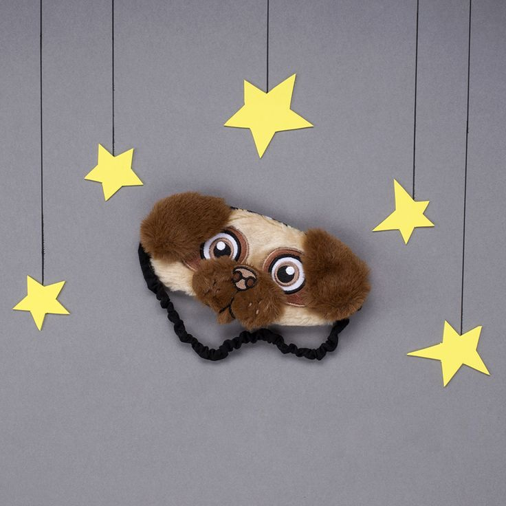 Adorable pug sleeping mask for kids and adults. Brilliant little blindfold for commuters and restless sleepers. Ideal present for children and grownups.