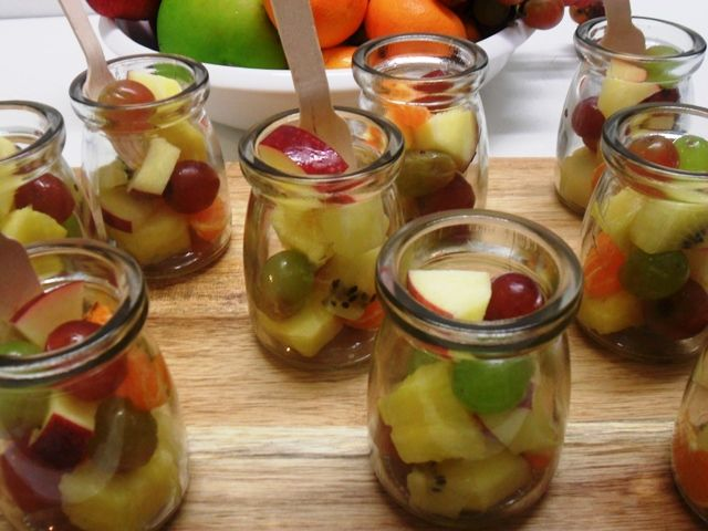 Mini fruit salads - We love these little jars of virtuousness