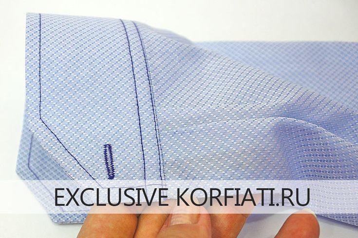 обработка манжеты рукава рубашки