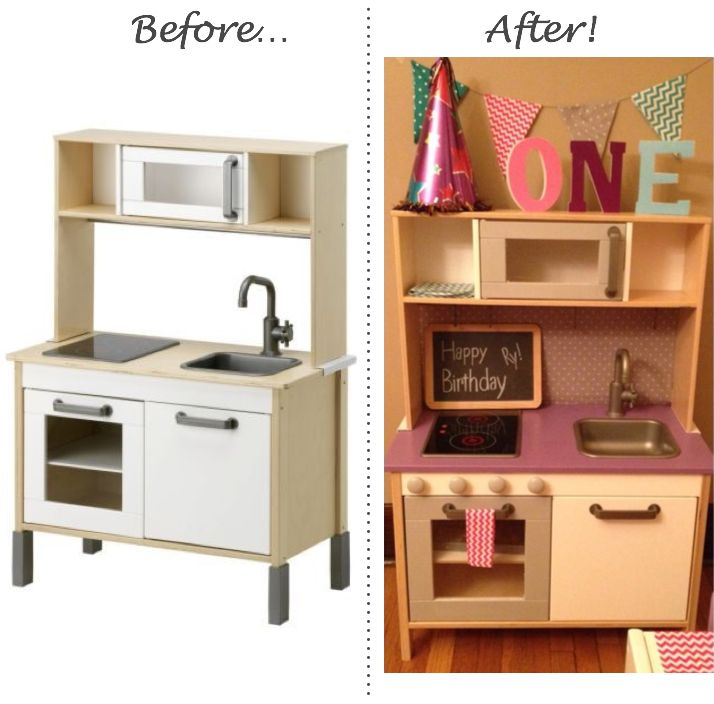 Kids Kitchen Table: Inspired Whims: Ikea Play Kitchen And Table/Chairs Upcycle