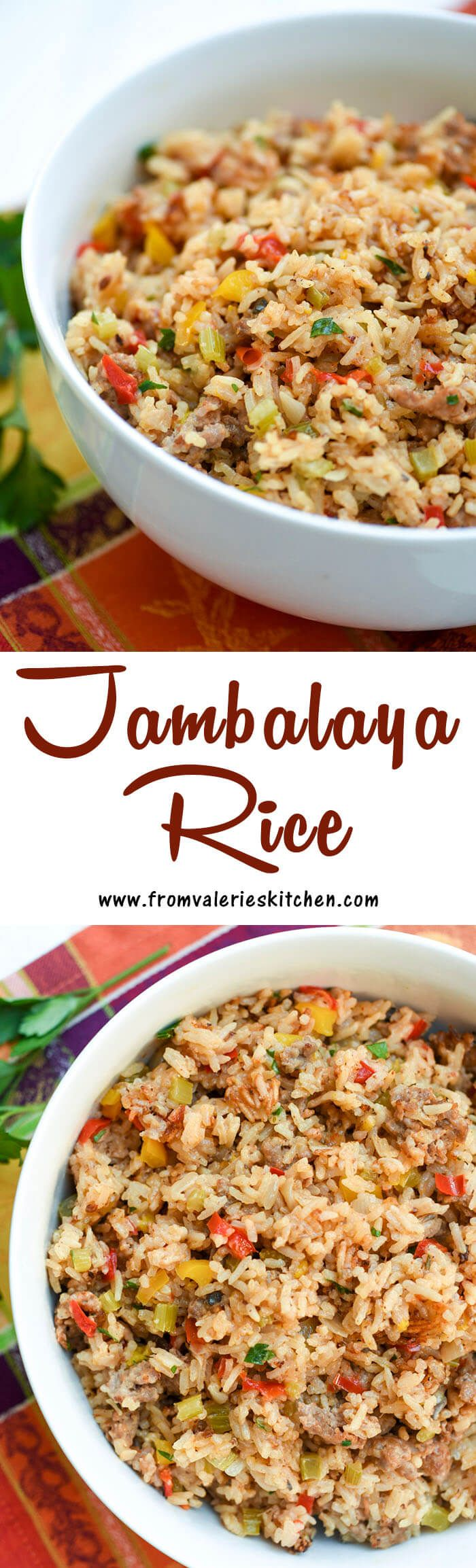 ThisCajun-inspired Jambalaya Rice is filled with sausage, onions, peppers, and garlic to create a satisfying and delicious side dish.