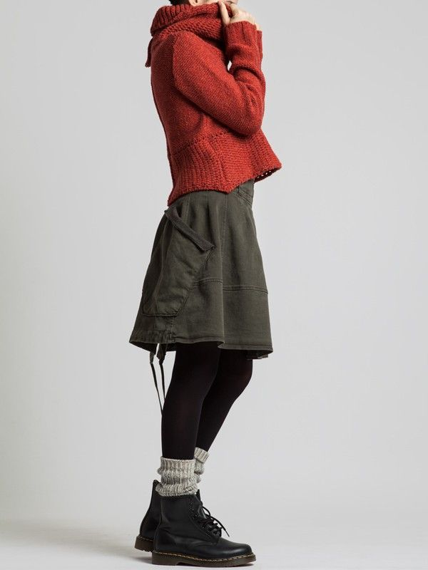 REGENERATED WOOL SWEATER WITH A RUSTIC LOOK - Woman -