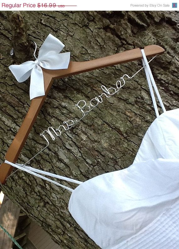 Huge Sale SALE / personalized custom Bridal hanger/ perfect bridal shower gift , u pick any name , bridal party gift