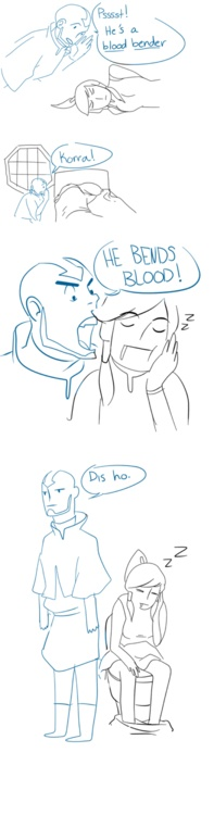 Lol, Aang trying to tell Korra about Amon