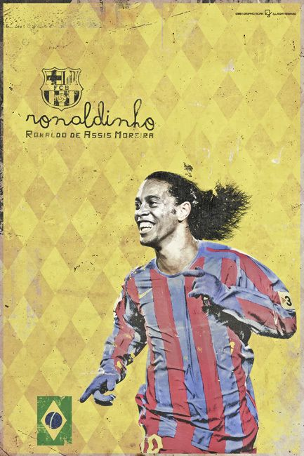 Ronaldinho, in my opinion the greatest ever || History Ballon D'Or by Giuseppe Vecchio Barbieri, via Behance