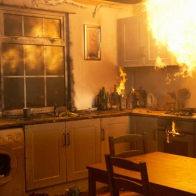 Surprising home fire hazards and how to avoid unwittingly fanning the flames. | Photo: Michael Blann | thisoldhouse.com: Everyday Life, Fire Safety, Badass Catchphrases, 15 Badass, Dinner Disasters, Bit Scorched, Fire Extinguisher, Thanksgiving Dinners