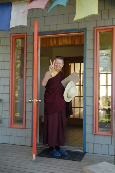 Such a great picture of Pema Chodron at Gampo Abbey.