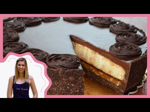 Karamellás fehér csokoládés mousse torta elkészítése recepttel - Sütik Birodalma - YouTube