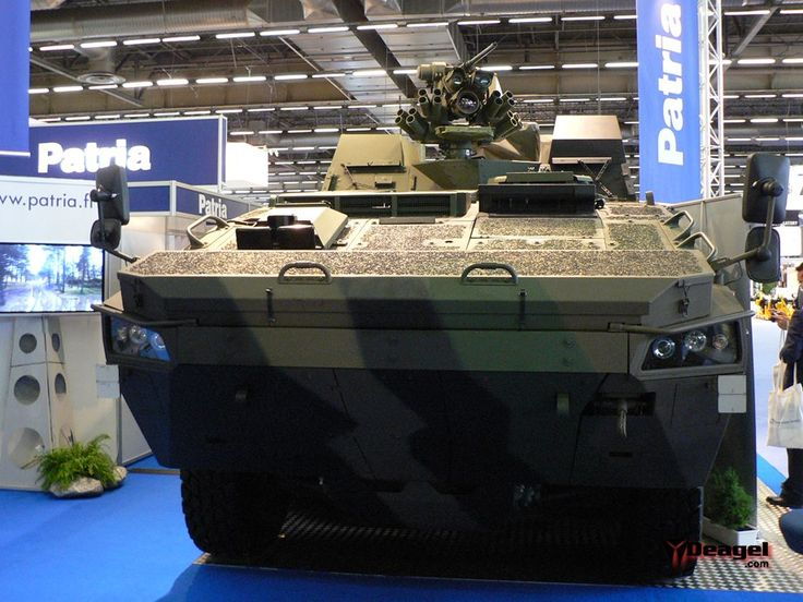 Patria AMV 8x8 equipped with AMAP-ADS hard kill defense system