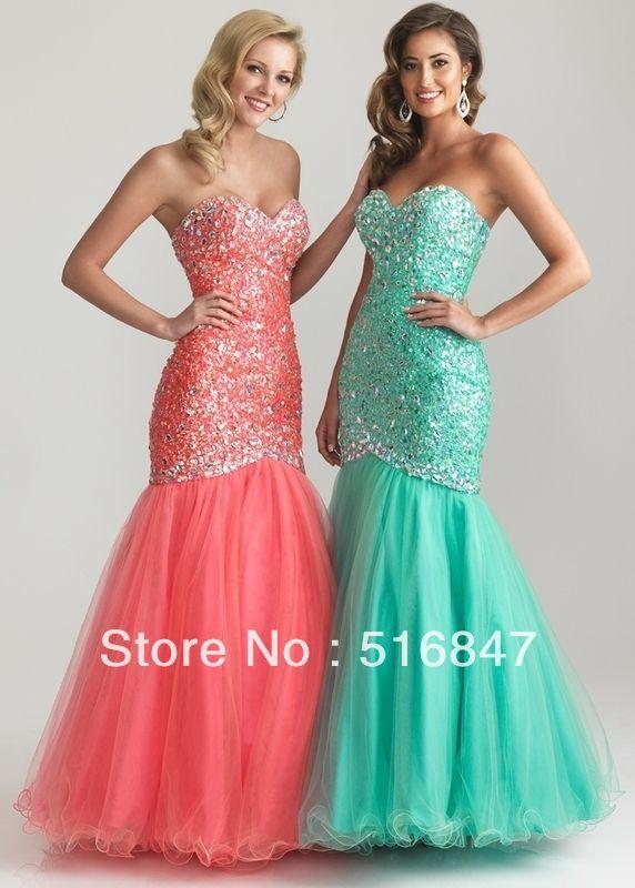Новый стиль длинные зеленые розовый тюль ну вечеринку платья кристаллы блесток ткань вечерние платья нестандартного размера бесплатная доставка