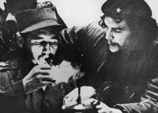Fidel Castro  with Che Guevara. The former Cuban President toppled the government in 1959, introducing a Communist revolution. He defied the US for decades, surviving many assassination plots.  His supporters said he had given Cuba back to the people. Critics saw him as a dictator. Died 11/25/16 at the age of 90.