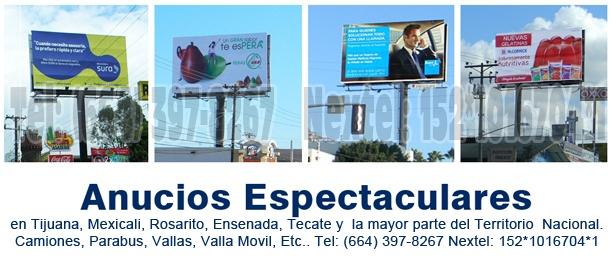 Anuncios Espectaculares en todo MEXICO