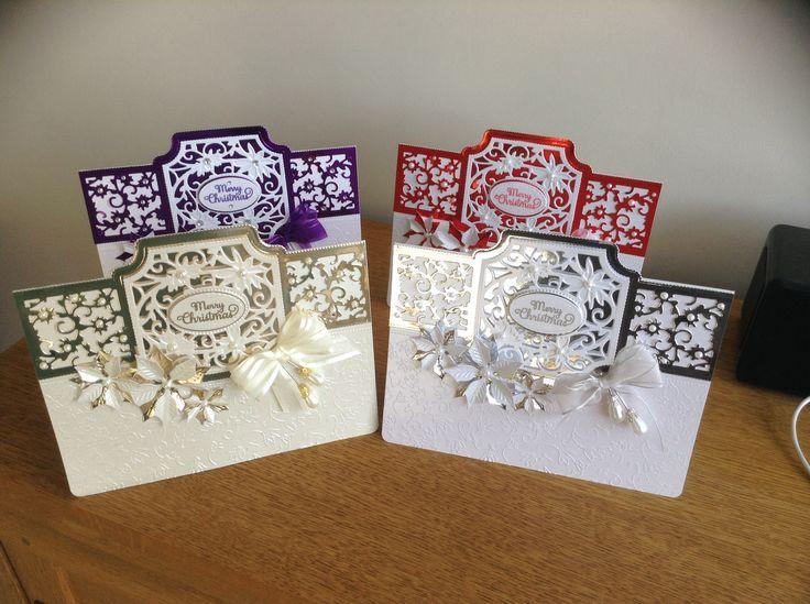 Christmas cards using tonic idyllic dies