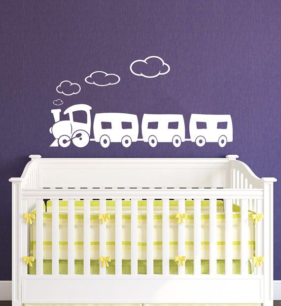 Train Decal  Train Wall Decals Wall Vinyl Decal by SuperVinylDecal, $24.99