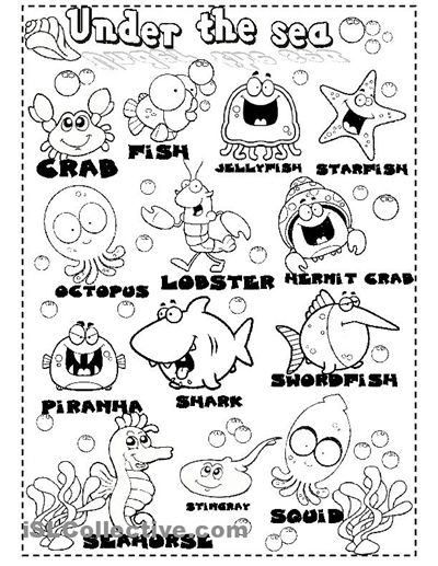 under the sea worksheets sea animals worksheet free esl printable worksheets made by. Black Bedroom Furniture Sets. Home Design Ideas