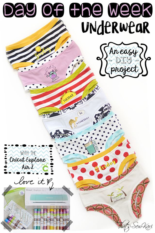 """{Blog Tour} DIY """"Day of the Week Underwear"""" with Cricut Explore Air 2 