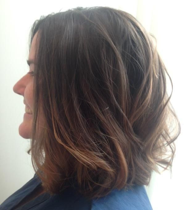 Wavy #lob haircut by Kristin at #artistrybuckhead #buckheadsalon