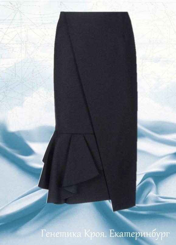 Моделирование юбки с запахом