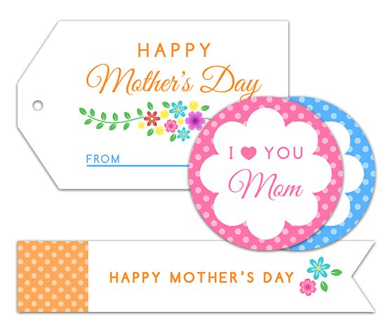 Download this Mother's Day Labels and other free printables from MyScrapNook.com