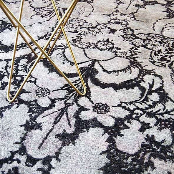 D A M A S K ➕ T A C T I L E  Silver Smoke colours runs through this richly handknotted rug.  Unique and being the only one of its kind DAMASK is available to view at our Melbourne showroom or online at www.rc-d.com.au