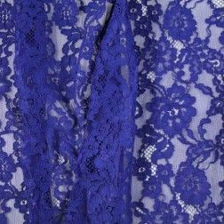 NY Designer Wide Scalloped Corded Lace – Sodalite Blue