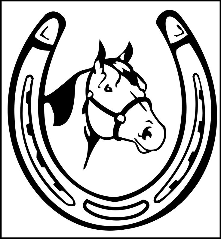 trends for gt double horseshoe clipart saddle club