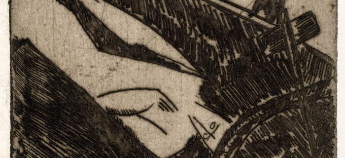 Elles le seront en octobre 2016, dans les ateliers dans lesquels Zadkine, engagé volontaire dès 1915, gazé en 1916, définitivement réformé en 1917, s'installa en 1928. Aux côtés de ces dessins de guerre : l'oeuvre de Chris MarkerOwls at noon, Prelude : The Hollow Men, inspirée du poèmeLes Hommes creuxécrit par T.S. Eliot en 1925. Fragments du poème de l'écrivain américain, photographies hallucinées de soldats blessés, images de femmes belles à pleurer se succèdent en séquences sérielles…