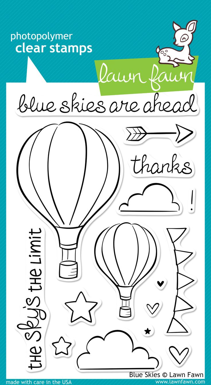 Blue Skies Cute Stamps Lawn Fawn Stamps Clear Stamps