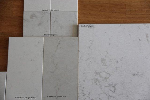pics: Silestone LAGOON-alt. to torquay or misty cararra - Kitchens Forum - GardenWeb Silestone length 10' while Caesarstone and Cambria length 9'