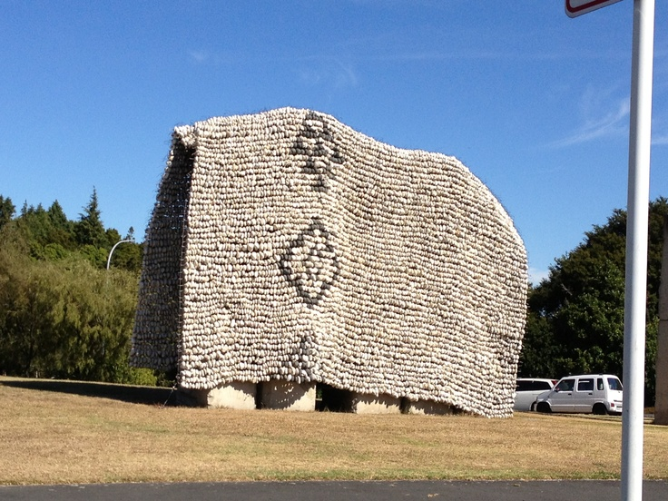 Korowai made of pumice stones