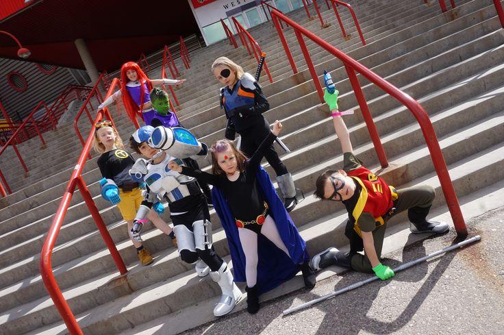 Kids Teen Titans Go Cosplay Group Kids Costumes Raven -7011