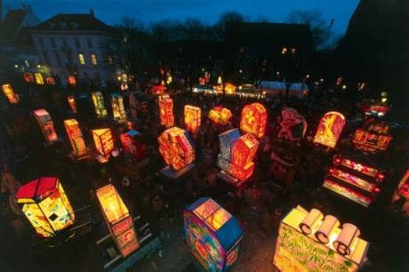 The lantern display at Munsterplatz.