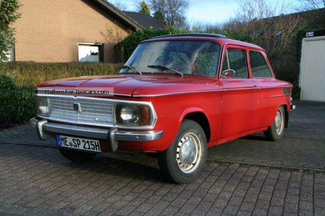 1970 NSU Prince 1200 C  Category : Small Car Engine Capacity: 1.2L (1177 cm³) Engine Power: 40kW (54PS)
