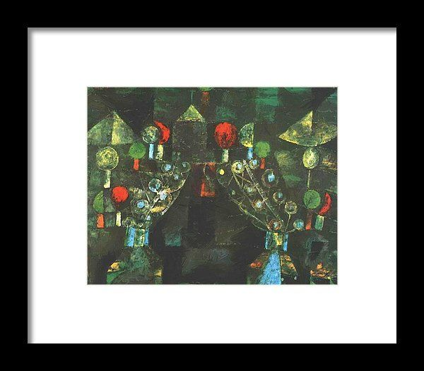 Women Framed Print featuring the painting Women Pavilion 1921 by Klee Paul