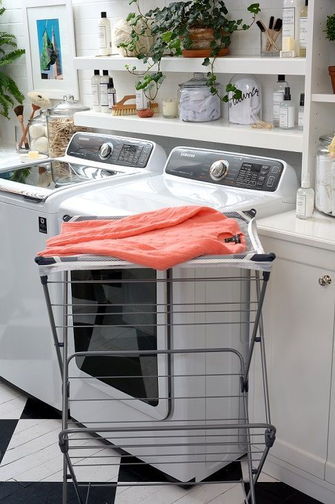 popular items laundry room decor. The Mesh-Top Drying Rack Has Tons Of Space To Hang All Your Air-dry Items At Once! Mesh Paneling On Top Is Perfect For Laying Favorite Sweaters Popular Laundry Room Decor