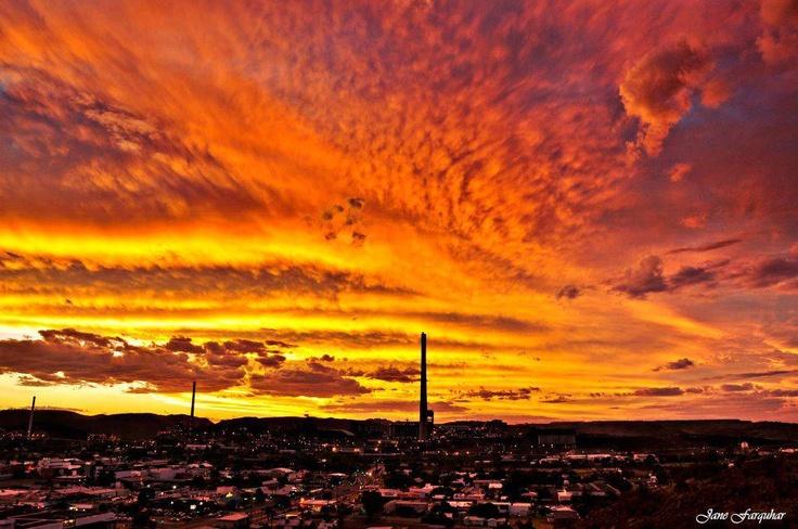 Mount Isa, QLD - Australia. Amazing sunset view.
