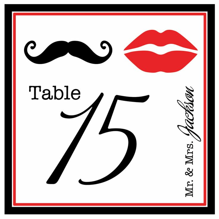 17 best images about table number cards on pinterest for Table 52 cards