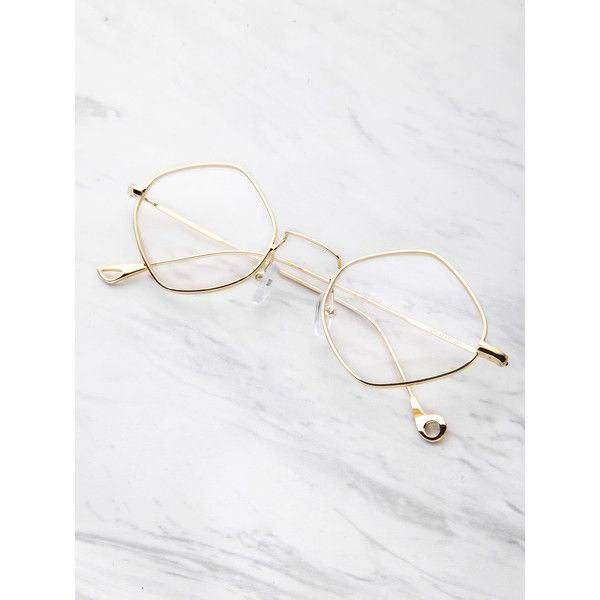 SheIn(sheinside) Contrast Frame Clear Glasses ($9) ❤ liked on Polyvore featuring accessories, eyewear, eyeglasses, white, clear eyewear, clear eye glasses, clear glasses, white glasses and white eyeglasses