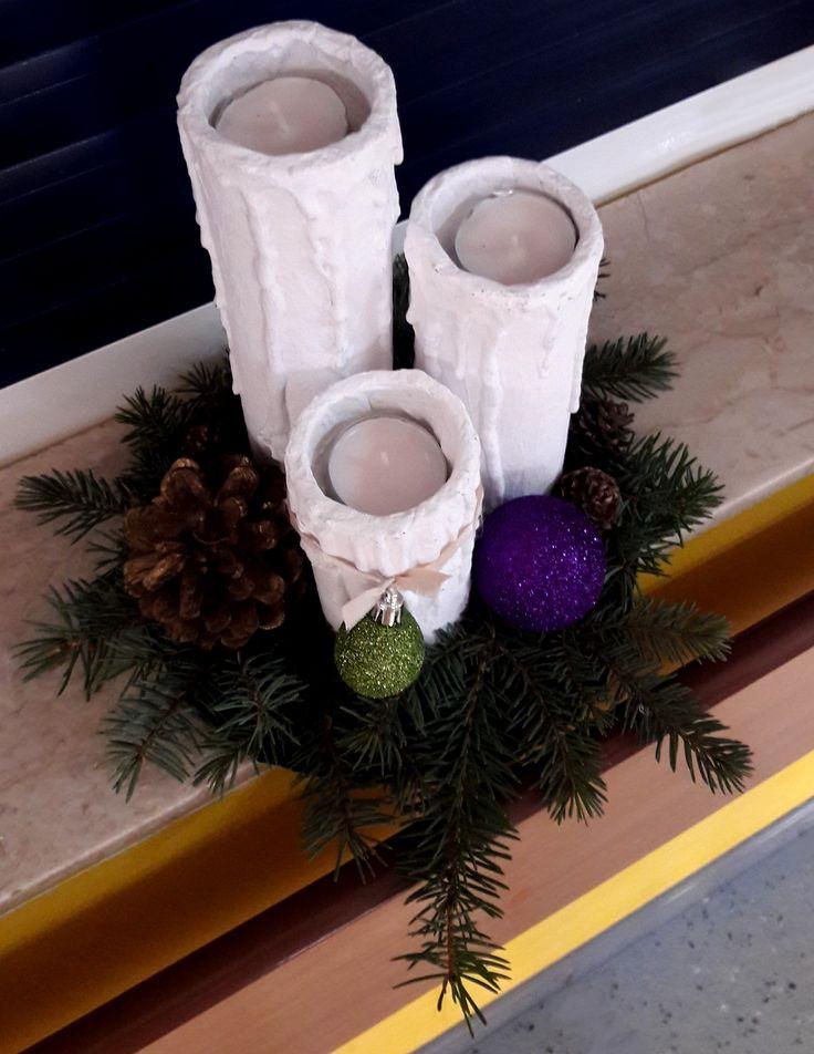 Stroik -  Świecznik  Bożonarodzeniowy