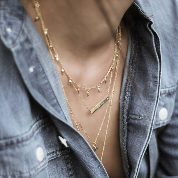 Layered gold necklaces by Missoma. Read our interview with Marisa Horden of Missoma and get the code for an exclusive 15% discount on W&W.