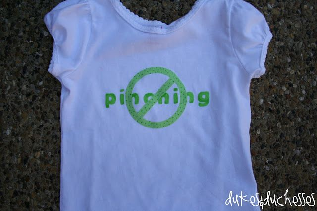a no pinching shirt for St. Patrick's Day