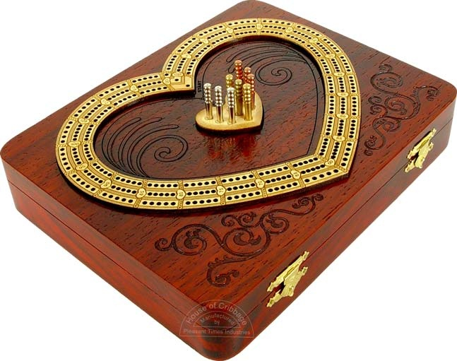 Heart Shape Cribbage Board