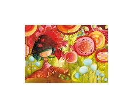Carte de souhaits Ketto - jungle of flowers / Ketto's greeting card - jungle of flowers  www.kettodesign.com