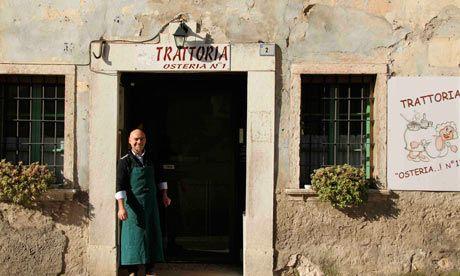 Valpolicella wine route - Top Ten.  Numero Uno, an osteria that's full of personality. Photograph: John Brunton