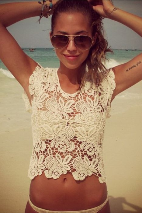 //: Cover Up, Fashion, Lace Tops, Style, Tattoo Placement, Summer, Strong Girl, Beach