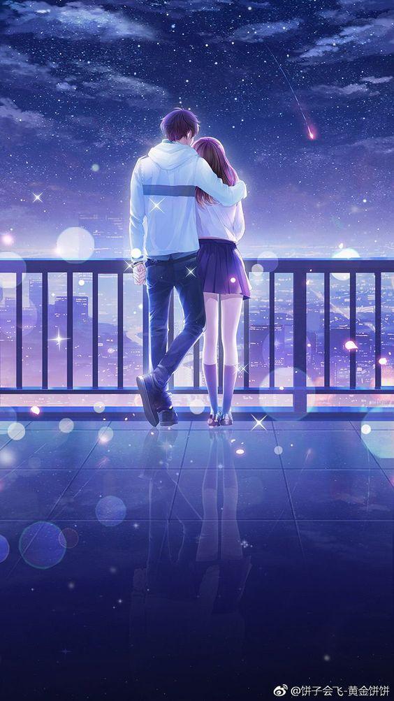 Iphone anime couple wallpaper