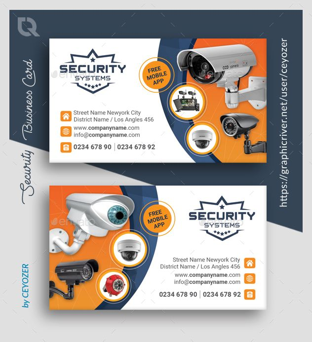Security Business Card Templates Card Templates Business Card Template Templates