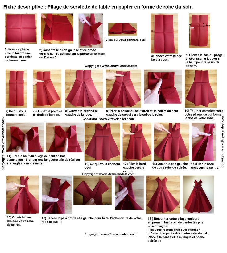 17 best images about pliage serviette on pinterest mesas origami and paper - Plier serviette de table ...