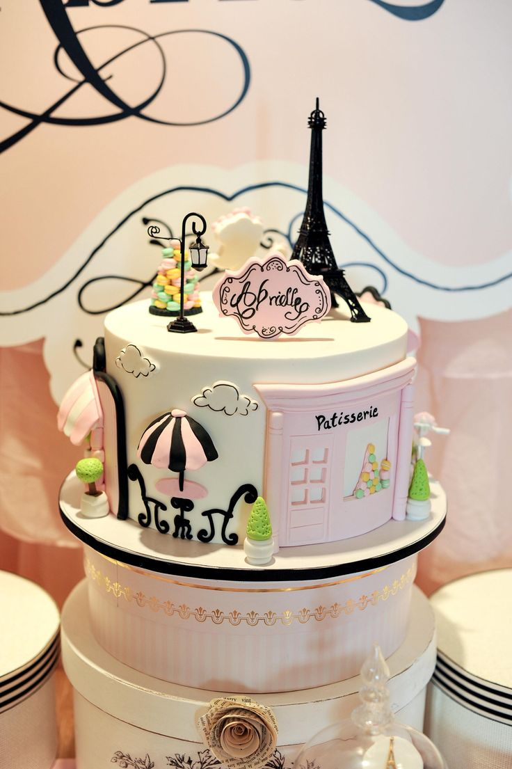 Magical Paris Themed Birthday Cake  – Fern & Maple – Cakes