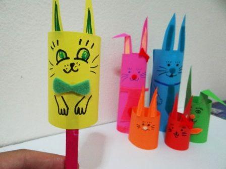 Пасхальная поделка - Кролик из бумаги (1)